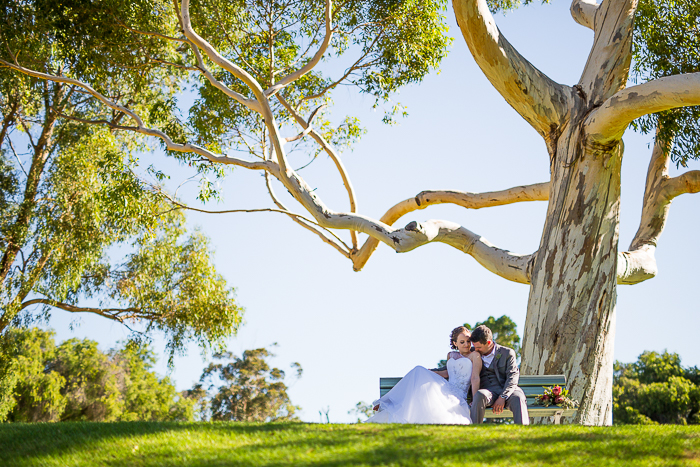 wedding at bicton quarantine park and the left bank