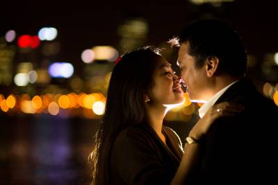south perth pre-wedding at night