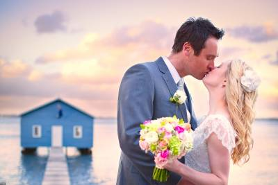 Blue boathouse perth wedding