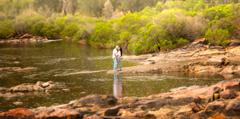 bells rapids perth pre-wedding shoot