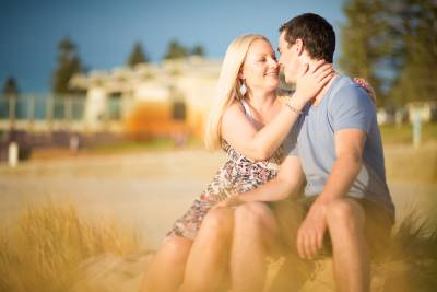 city beach perth pre-wedding shoot