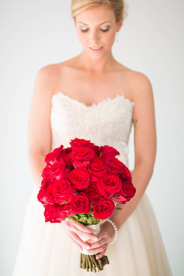 red bouquet wedding perth