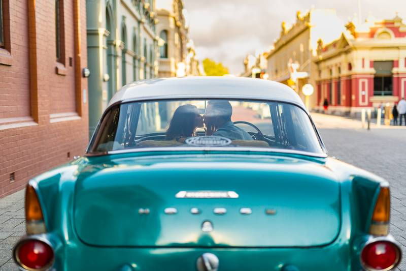 fremantle vintage car wedding photographer perth