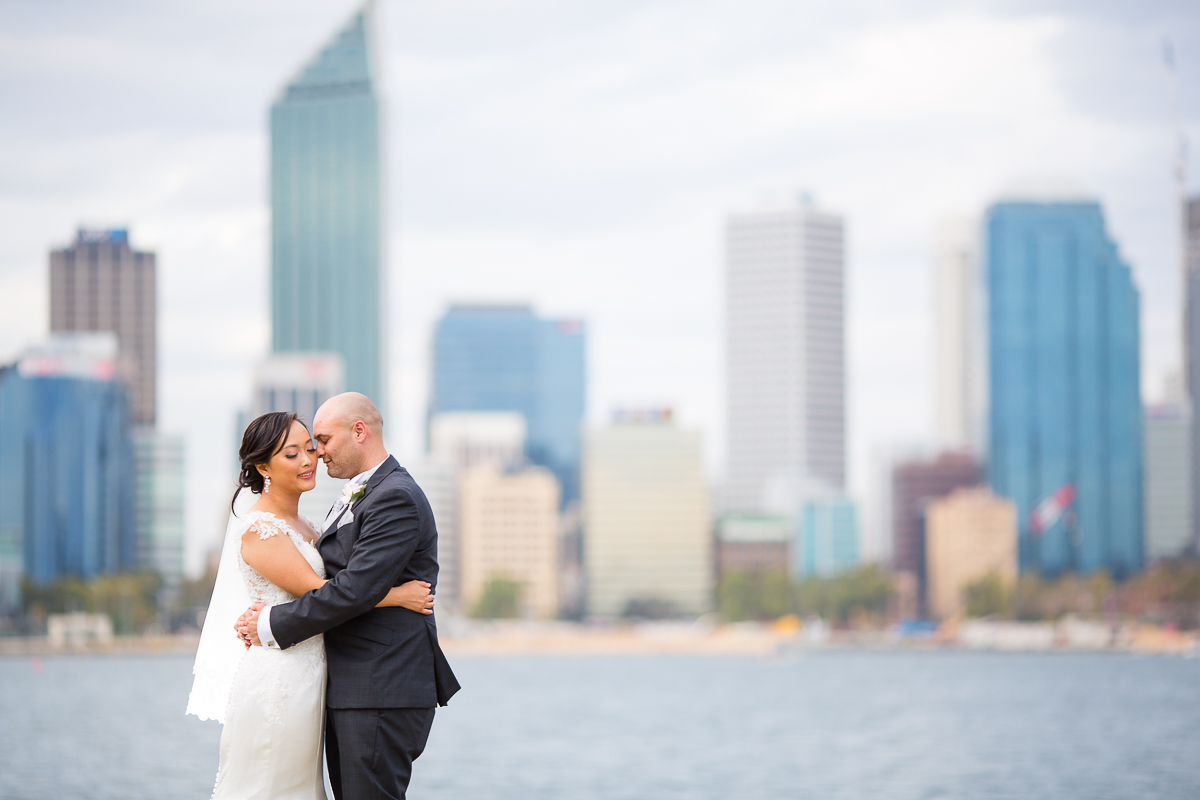 south perth foreshore wedding photographer