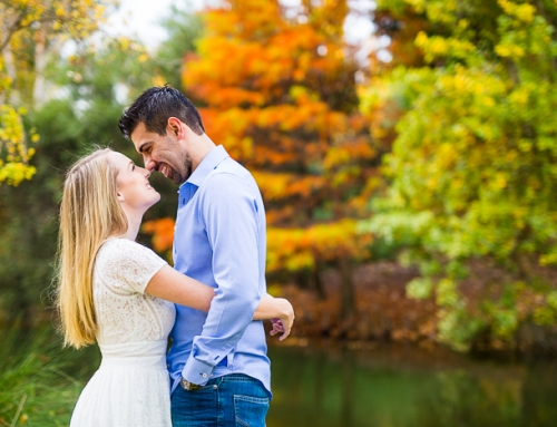 Kristin and Ben's Autumn Coloured Pre-wedding Shoot