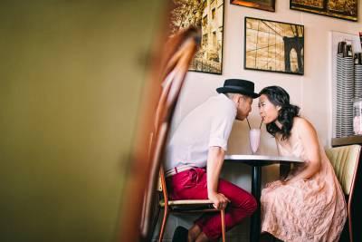 Prewedding shoot at Sherbet Cafe Maylands Perth