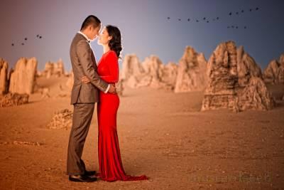 pinnacles nambung national park pre-wedding