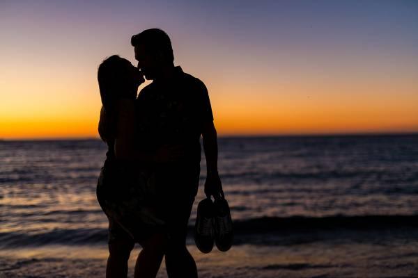 cottesloe beach sunset wedding photographer